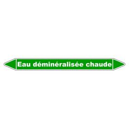 """Marqueur de Tuyauterie """"Eau déminéralisée chaude"""" en Vinyle Laminé"""