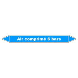 """Marqueur de Tuyauterie """"Air comprimé 6 bars"""" en Vinyle Laminé"""