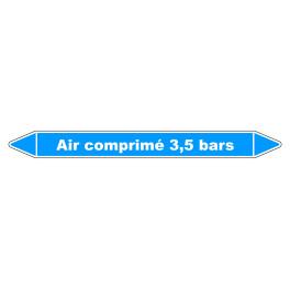 """Marqueur de Tuyauterie """"Air comprimé 3,5 bars"""" en Vinyle Laminé"""