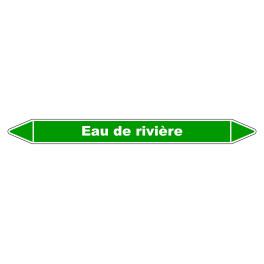 """Marqueur de Tuyauterie """"Eau de rivière"""" en Vinyle Laminé"""