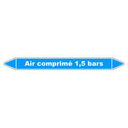 """Marqueur de Tuyauterie """"Air comprimé 1,5 bars"""" en Vinyle Laminé"""