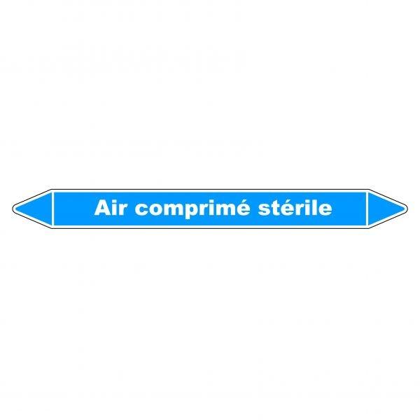 """Marqueur de Tuyauterie """"Air comprimé stérile"""" en Vinyle Laminé"""