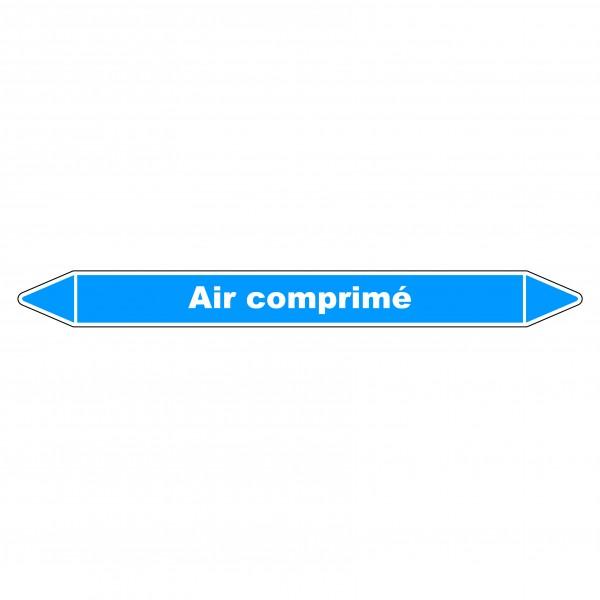 """Marqueur de Tuyauterie """"Air comprimé"""" en Vinyle Laminé"""