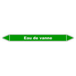 """Marqueur de Tuyauterie """"Eau de vanne"""" en mm Vinyle Laminé"""