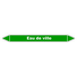 """Marqueur de Tuyauterie """"Eau de ville"""" en Vinyle Laminé"""