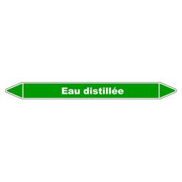 """Marqueur de Tuyauterie """"Eau distillée"""" en Vinyle Laminé"""