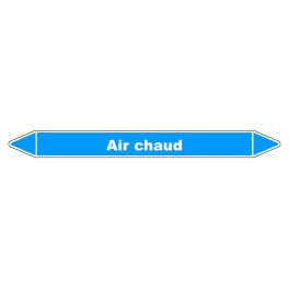 """Marqueur de Tuyauterie """"Air chaud"""" en Vinyle Laminé"""