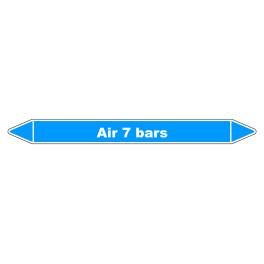 "Marqueur de Tuyauterie ""Air 7 bars"" en Vinyle Laminé"