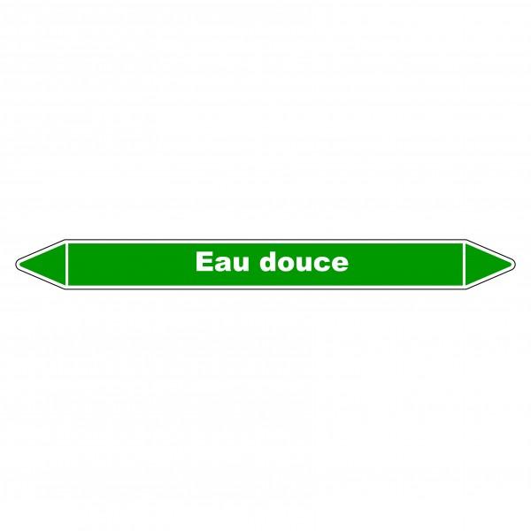 """Marqueur de Tuyauterie """"Eau douce"""" en Vinyle Laminé"""