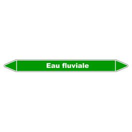 """Marqueur de Tuyauterie """"Eau fluviale"""" en Vinyle Laminé"""