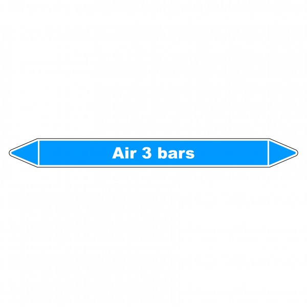 "Marqueur de Tuyauterie ""Air 3 bars"" en Vinyle Laminé"