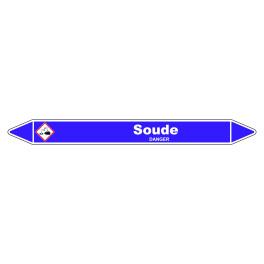 """Marqueur de Tuyauterie """"Soude"""" Vinyle Laminé"""