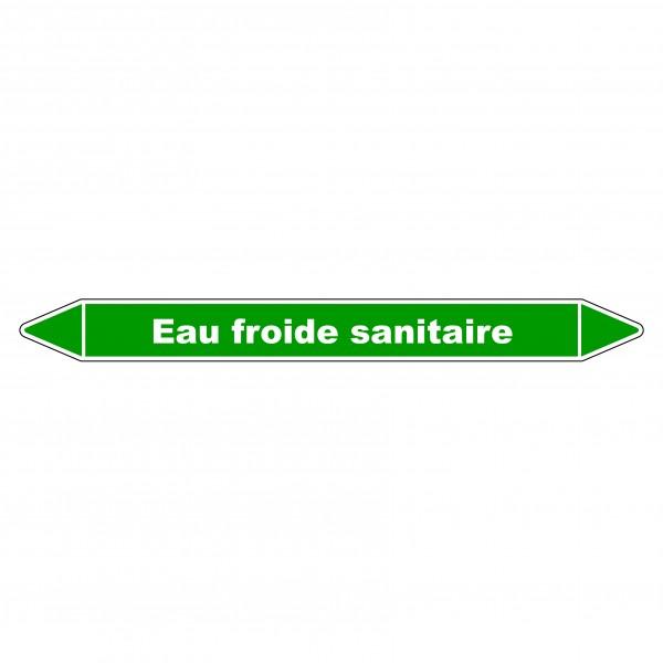 """Marqueur de Tuyauterie """"Eau froide sanitaire"""" en Vinyle Laminé"""