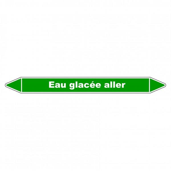Marqueur de Tuyauterie Eau glacée aller 150 x 12 mm Vinyle Laminé