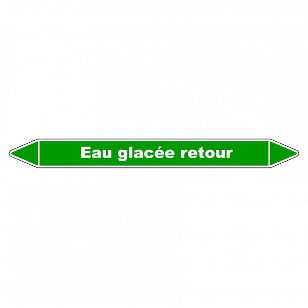 Marqueur de Tuyauterie Eau glacée retour 150 x 12 mm Vinyle Laminé