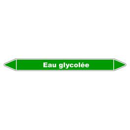"""Marqueur de Tuyauterie """"Eau Glycolée"""" en Vinyle Laminé"""
