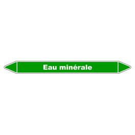 """Marqueur de Tuyauterie """"Eau Minérale"""" en Vinyle Laminé"""