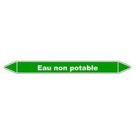 """Marqueur de Tuyauterie """"Eau Non Potable"""" en Vinyle Laminé"""