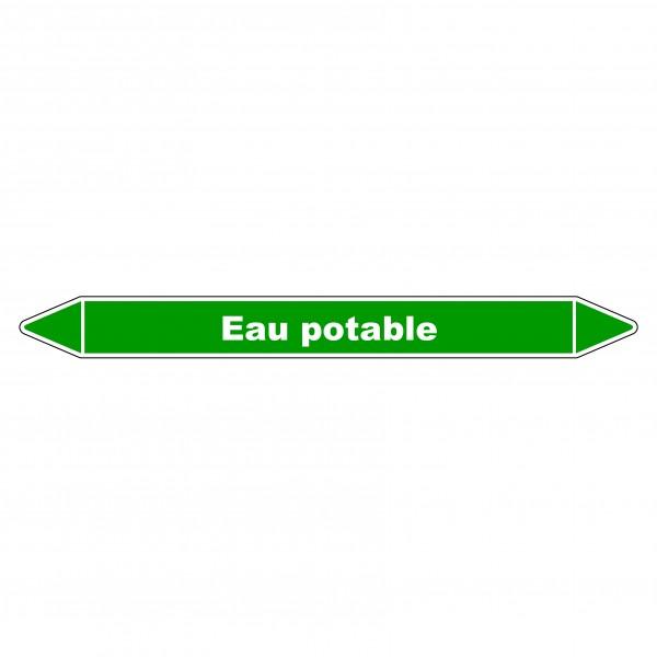 """Marqueur de Tuyauterie """"Eau Potable"""" en Vinyle Laminé"""