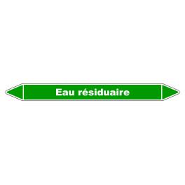 """Marqueur de Tuyauterie """"Eau Résiduaire"""" en Vinyle Laminé"""