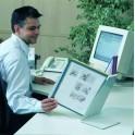 Chevalet de Table Porte-Documents A4 10 Inserts