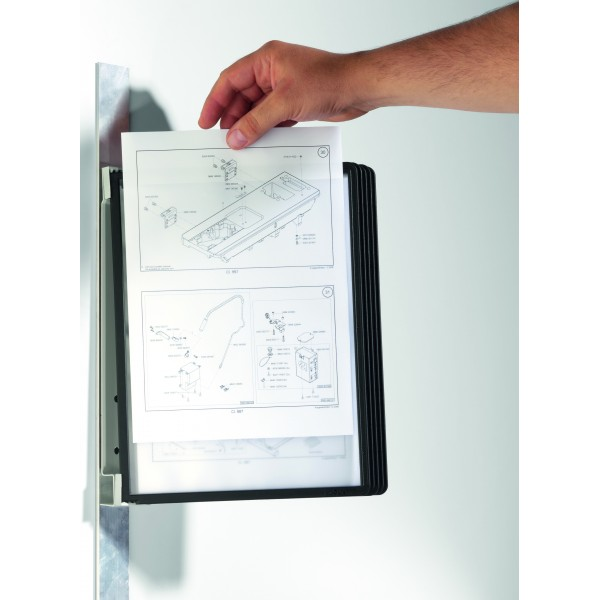 Support mural magn tique porte document a4 for Porte document mural metal