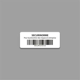 Étiquettes à Code-Barre Personnalisables en Polyester