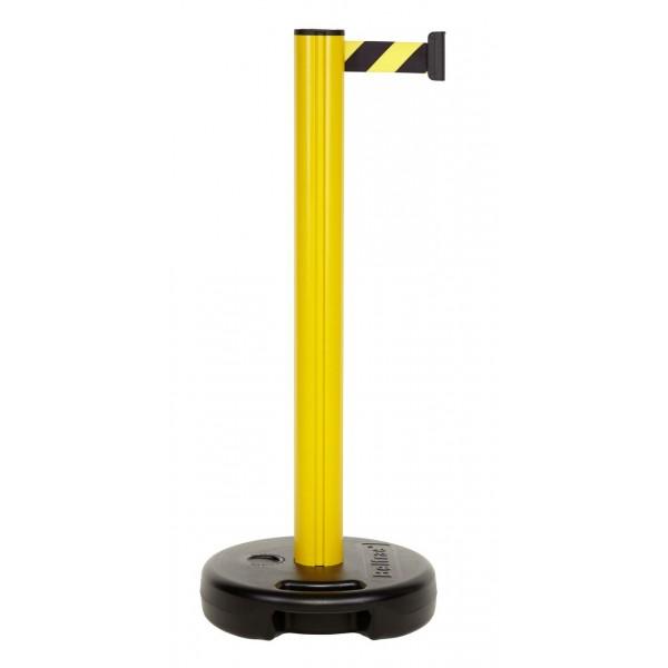 Poteau jaune à sangle jaune et noire L 3,7 m