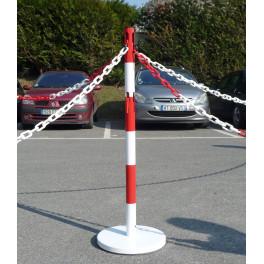 Poteau Design avec Base Fixe en Acier ø50 mm