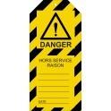 """Étiquettes de Condamnation """"Danger : Hors-Service"""""""
