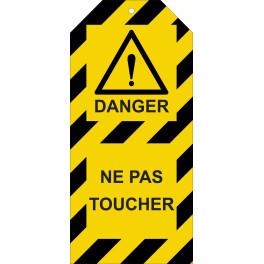"""Étiquettes de Condamnation """"Danger : Ne pas toucher"""""""