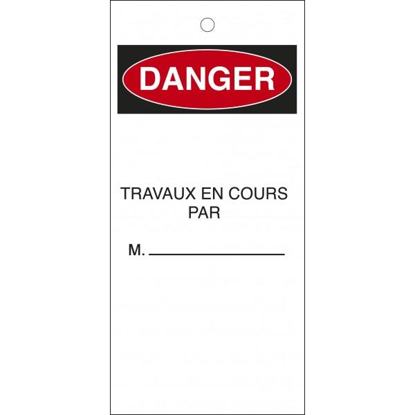 """Étiquettes de Condamnation """"Travaux en Cours"""""""