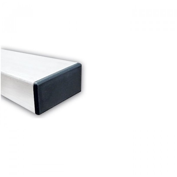 Poteau Rectangulaire en Acier Galvanisé Blanc 80 x 40 mm