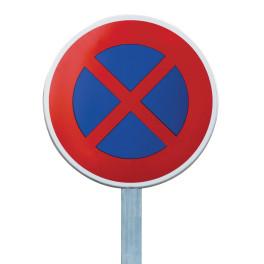 """Kit Panneau de Prescription B6d """"Arrêt et stationnement interdits"""""""