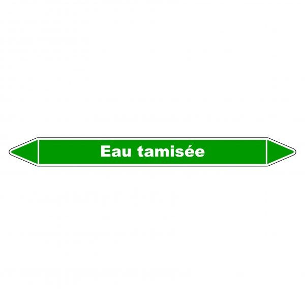 Marqueur de Tuyauterie Eau tamisée 150 x 12 mm Vinyle Laminé