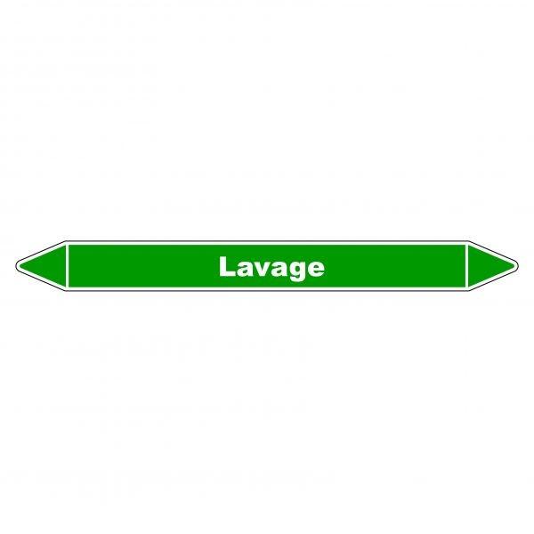 Marqueur de Tuyauterie Lavage 150 x 12 mm Vinyle Laminé