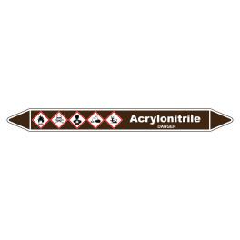 Marqueur de Tuyauterie Acrylonitrile 150 x 12 mm Vinyle Laminé