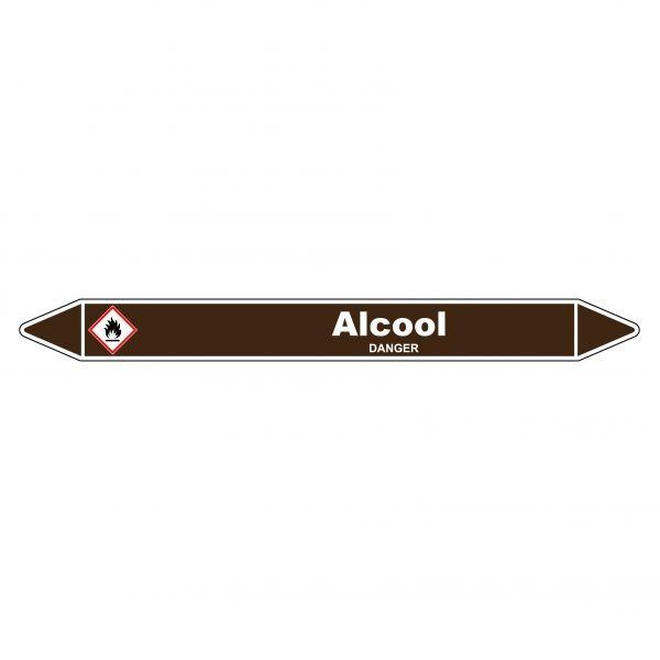 Marqueur de Tuyauterie Alcool 150 x 12 mm Vinyle Laminé