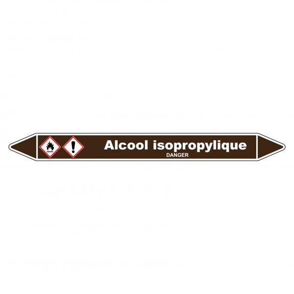 Marqueur de Tuyauterie Alcool isopropylique 150 x 12 mm Vinyle Laminé