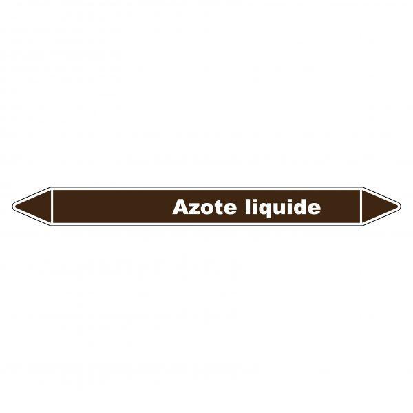 Marqueur de Tuyauterie Azote liquide 150 x 12 mm Vinyle Laminé
