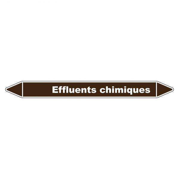 Marqueur de Tuyauterie Effluents chimiques 150 x 12 mm Vinyle Laminé