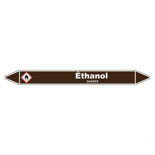 Marqueur de Tuyauterie Ethanol 150 x 12 mm Vinyle Laminé