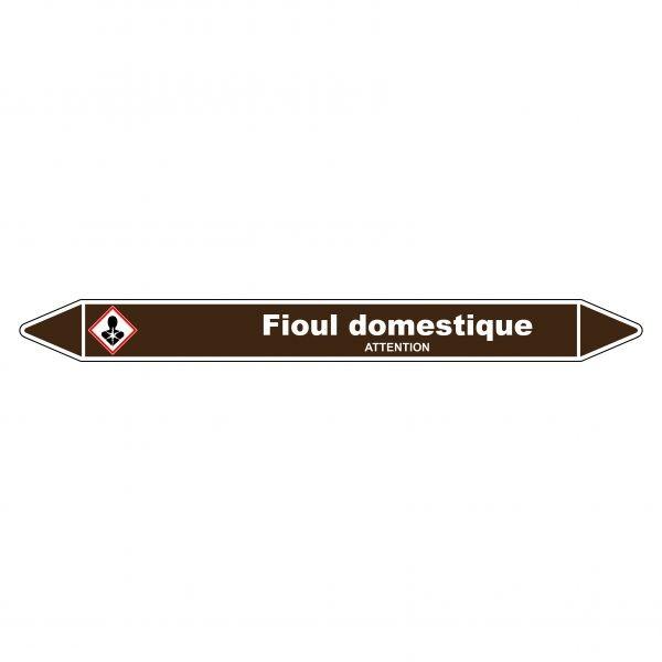 Marqueur de Tuyauterie Fioul domestique 150 x 12 mm Vinyle Laminé
