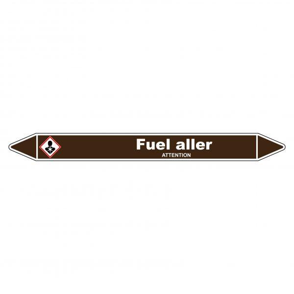 Marqueur de Tuyauterie Fuel aller 150 x 12 mm Vinyle Laminé