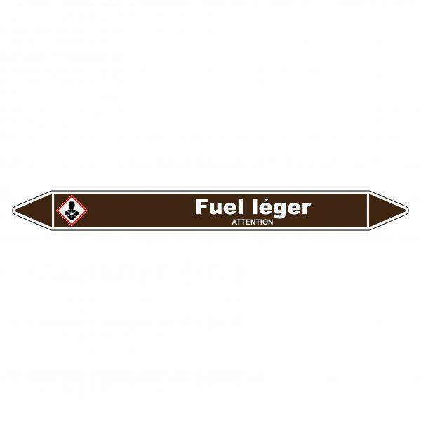 Marqueur de Tuyauterie Fuel léger 150 x 12 mm Vinyle Laminé
