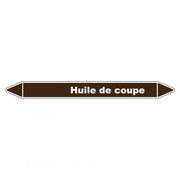 Marqueur de Tuyauterie Huile de coupe 150 x 12 mm Vinyle Laminé