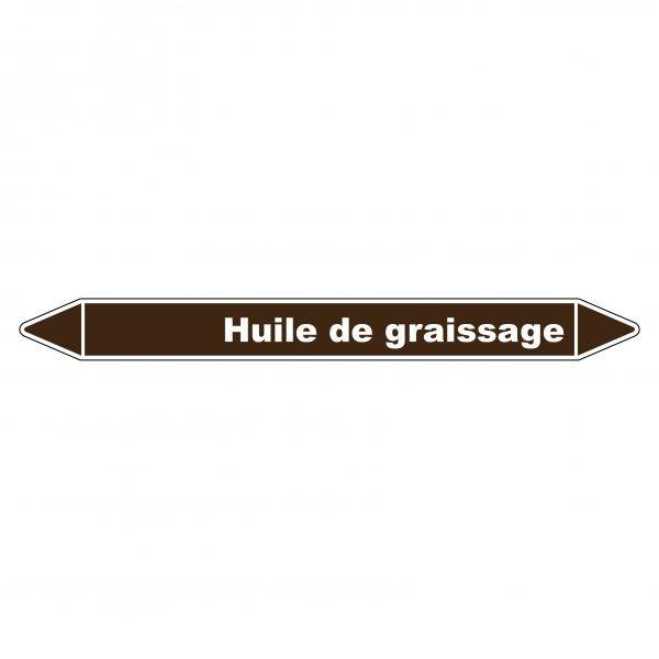Marqueur de Tuyauterie Huile de graissage 150 x 12 mm Vinyle Laminé