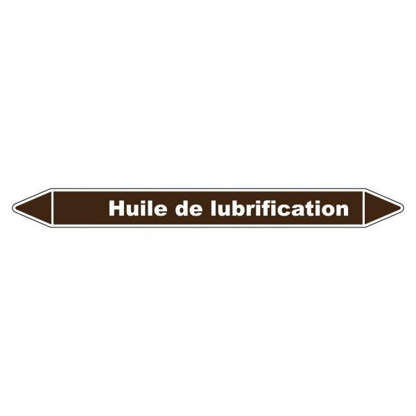 Marqueur de Tuyauterie Huile de lubrification 150 x 12 mm Vinyle Laminé