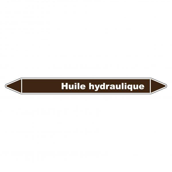 Marqueur de Tuyauterie Huile hydraulique 150 x 12 mm Vinyle Laminé
