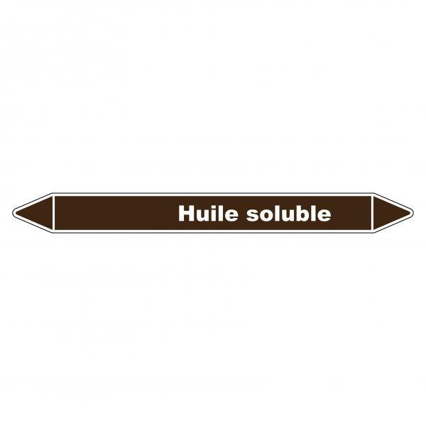 Marqueur de Tuyauterie Huile soluble 150 x 12 mm Vinyle Laminé
